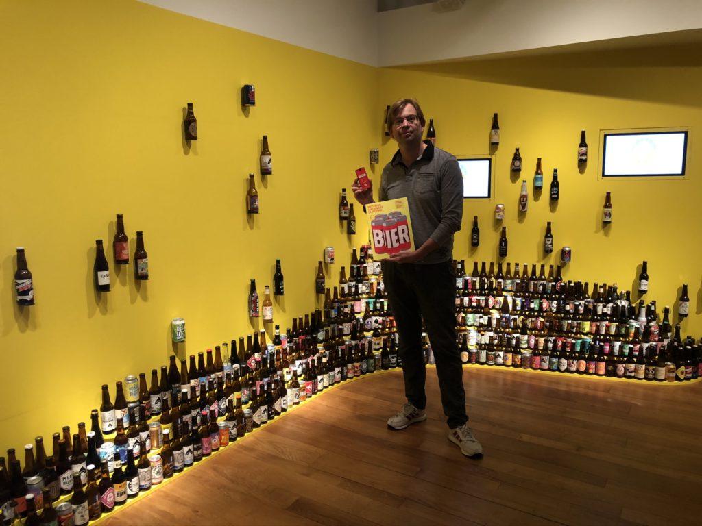 Wand van diverse Amsterdamse bieren