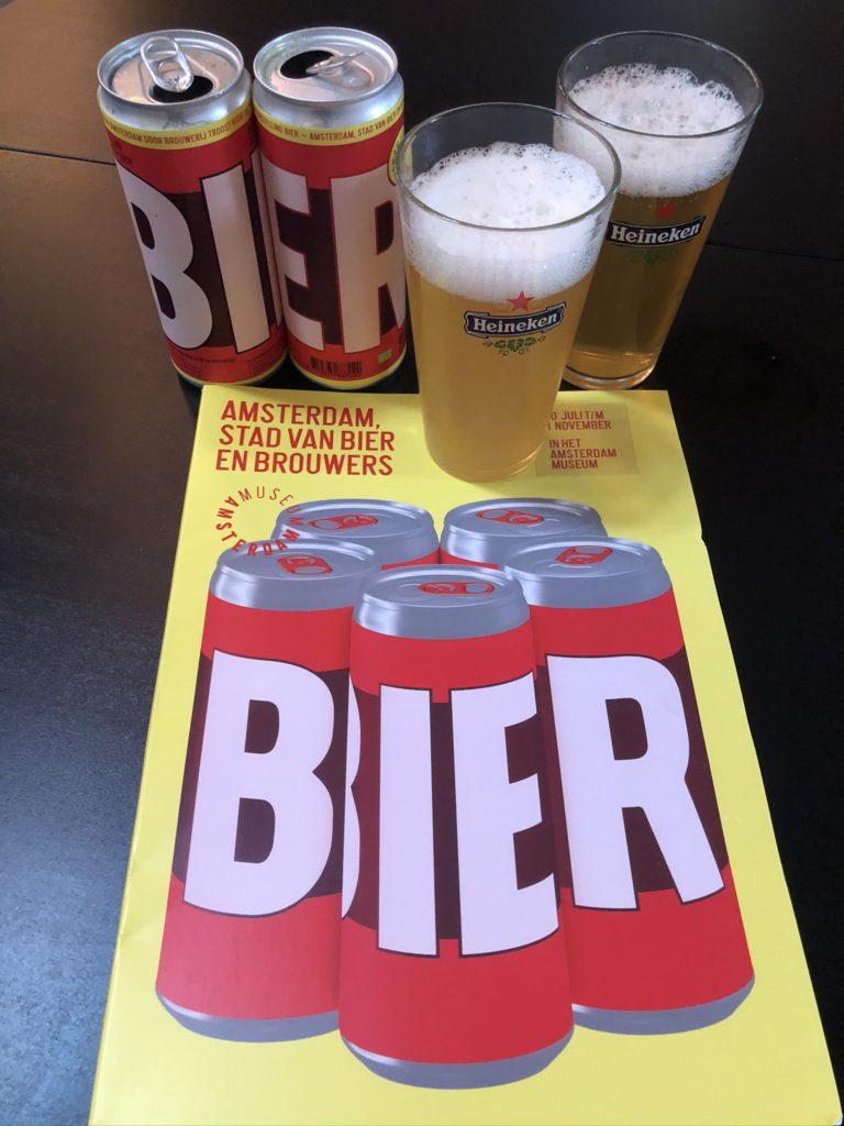 Prachtige vormgeving van het speciale Amsterdam Museum biertje gebrouwen door Brouwerij Troost
